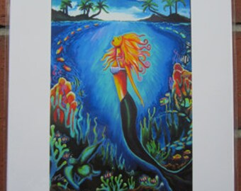 Mermaid 11x14 Giclee Print by Tiffany Beasi