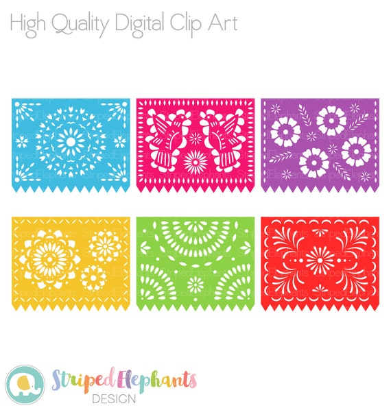 Mexican Fiesta Banner Bunting Papel Picado Party Pennant - Mexican Paper Flags  Png Clipart (#863256) - PinClipart