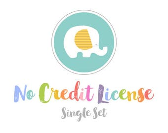No Credit License for ONE Set of StripedElephants Graphics.