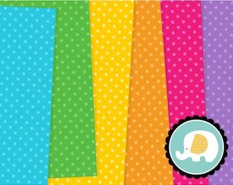 Polka Dot Digital Paper 3, Dotty Digital Scrapbook Paper, Polka do Digital Backgrounds, Instant Download, Commercial Use