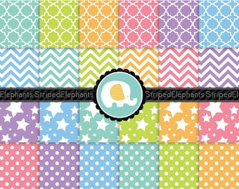 Sweet Dreams Digital Paper Pack, Pastel Digital Papers, Pastel Digital Backgrounds, Instant Download, Commercial Use