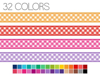 Gingham Digital Borders - Checked Digital Edging - Instant Download - Commercial Use