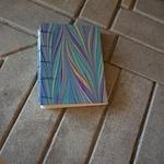 Pocket Sketchbook, Marbled Hard Cover, Coptic Japanese Binding, Travel Memories, Sketching on Trip, Walk and Sketch, Holiday Gift, Birthday