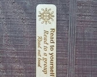 Wood Bookmark Laser Engraved