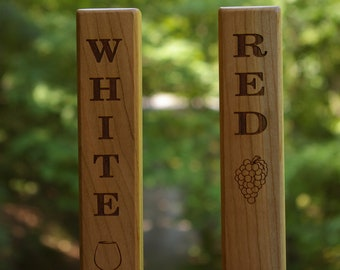 Red and White Wine Tap Handles