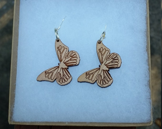 Laser Cut Butterfly Earrings