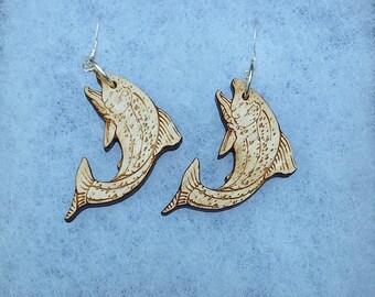 Laser Cut Trout Earrings
