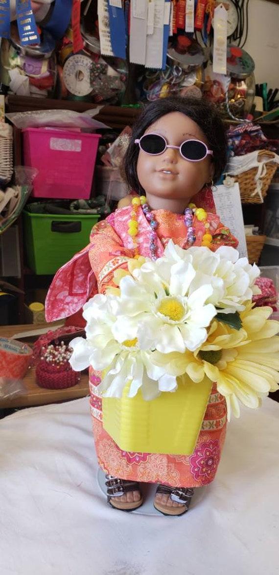 5dd0aa24ce Summer of Love hippie Woodstock dress vest scarf shoes basket