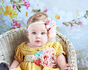Gracie Dress PATTERN, Baby Dresses, Spring, Summer Knits, Newborn-12 Months, Lace Knitting, Photo Props, Photography Props, Classic