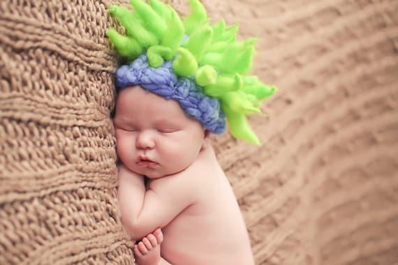 ffc8f8dcbe7f Funky Twisty Baby Hat PATTERN PDF for Photo Prop Newborn-6