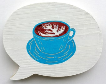 Latte for your Bah-tay? (Blue)