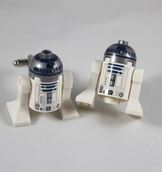 Lego Star Wars Cuff Links - R2D2 Lego Minifigure