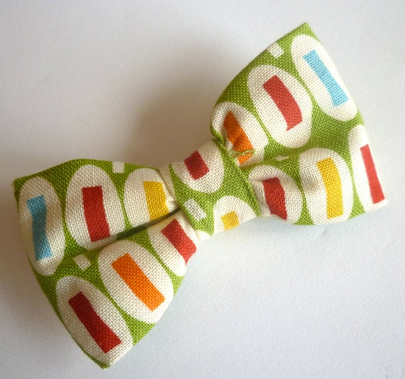 "Green ""Pez"" Boy's Bow Tie"