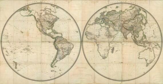 6 sepia world map bow ties