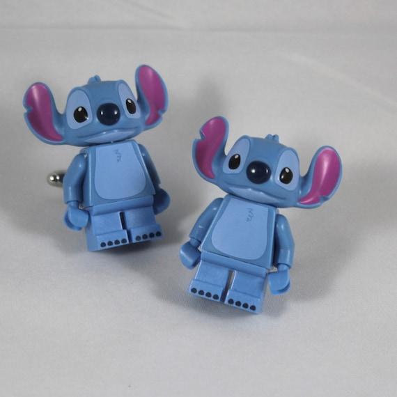 Disney Lego Stitch Cuff Links - Lilo and Stitch Minifigure