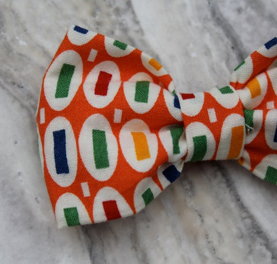 "Orange ""Pez"" Boy's Bow Tie - clip on"