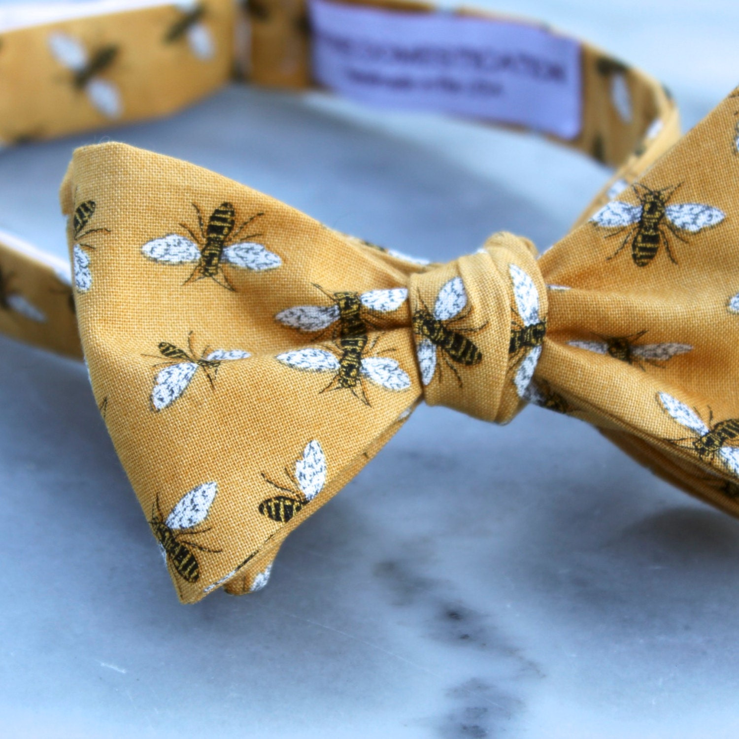 aad31951acca Men s Golden Bumble Bee Bow Tie - clip on
