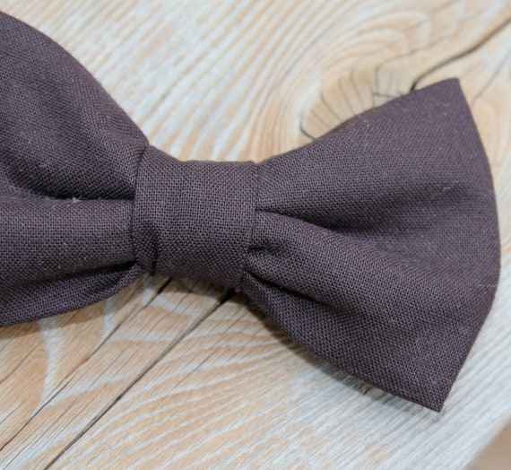 Dark Chocolate Brown Bow tie - clip on, pre-tied with strap or self tying - ring bearer attire or groomsmen gift