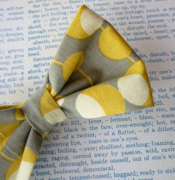 Mustard Martini Men's Bow Tie