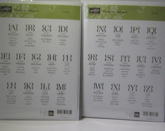 Occasions Alphabet Stampin' Up Clear Mount Stamp Set