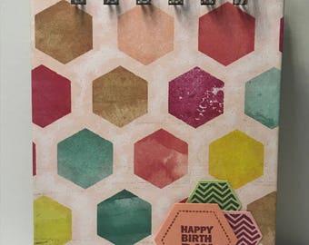 Hexagon Birthday/Anniversary Reminder Book