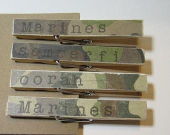 Camo Clothespins Marines