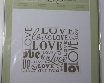 Stampin' Up! Letterpress Lots of Love