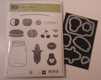 Stampin' Up! Perfectly Preserved Clear Mount Rubber Stamp and Cannery Framelits