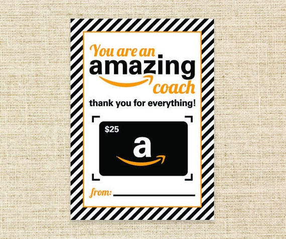 Amazon Gift Card Holder For Coach 5x7 Printable Gift Card Etsy