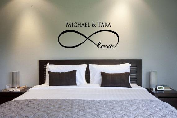 Love Infinity Wall Decal Quote Symbol Bedroom Vinyl Sticker Decals Loop Marriage