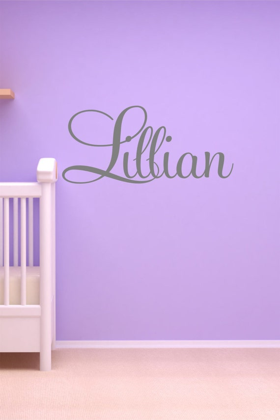 Name Lillian Wall Decals Cafepress