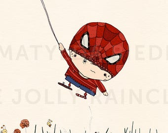 S is for Spiderman print