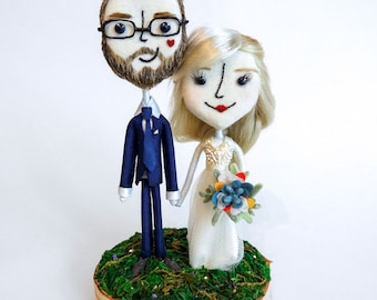 Teeny Tiny Handcrafted Super Sweet and Charming Custom Keepsake Wedding Cake Toppers