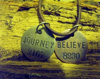 Believe and Journey Mailbox Pendants Necklace