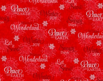 Winter Joy, Red, Peace on Earth, Let It Snow