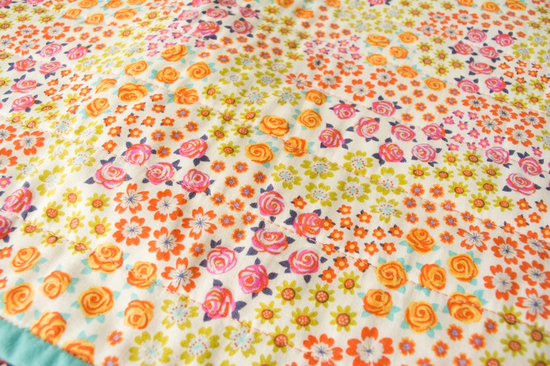 Bright Floral Whole Cloth Quilt