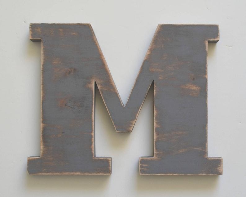 Wooden Letter M 18 Inch Wood Wall Letter Nursery Letter