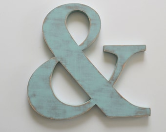 Ampersand Wooden Sign - Ampersand Cut Out - 18 inch &