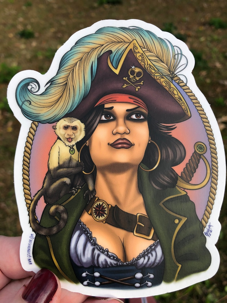 The Infamous Mary Read vinyl art sticker