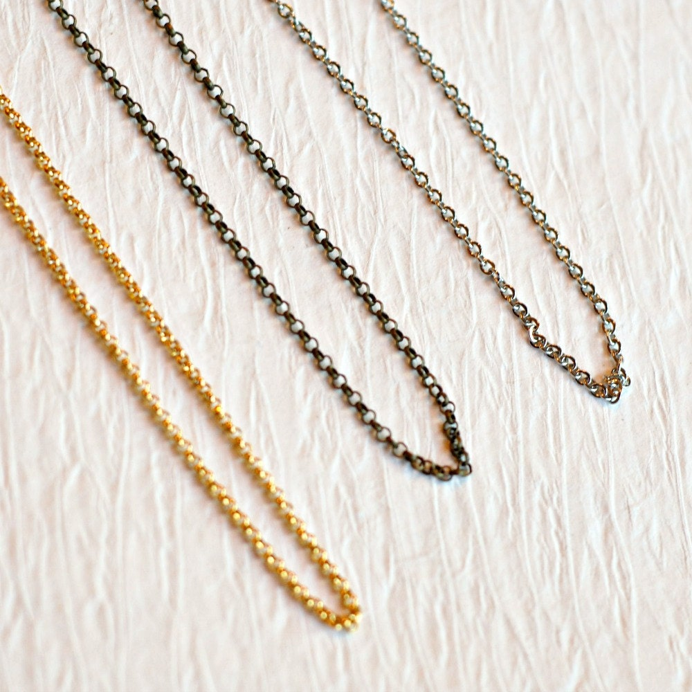 Stainless steel chain delicate link chain gold