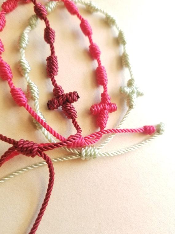 Knotted Rosary bracelets, bulk order options