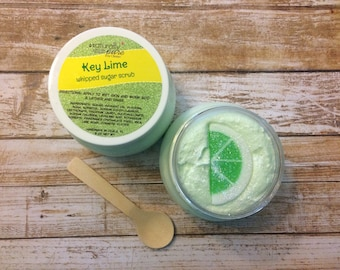 Key Lime : Whipped Sugar Scrub, Emulsified Scrub, Whipped Soap, Cream Soap, Unicorn Soap, Bath Whip