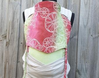 Watermelon Lemonade Half Buckle Baby Carrier - Solarveil Mesh