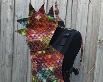 Full Buckle Baby Carrier - Rainbow Dragon - Colimacon & Cie Organic Cotton