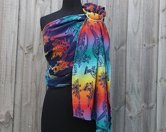 Wrap Conversion Ring Sling - Smitten Rainbow Dinosaurs Land Before Cogs