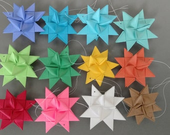 Set of 15 German Paper Stars - You Pick the Colors!