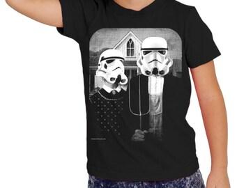 3a8a16e5af191 Star wars AT AT cowboy on boys kids childrens t shirt | Etsy
