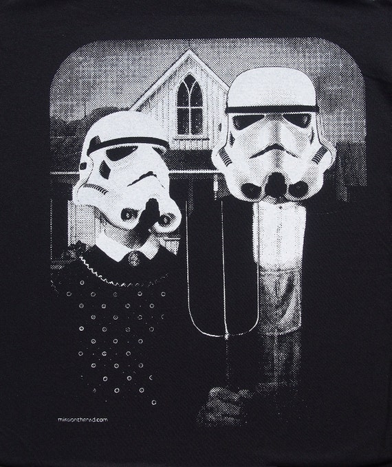 Star Wars American Gothic Parody On Mens T Shirt
