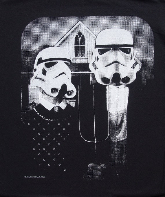 Star Wars American Gothic Parody On Womens T Shirt