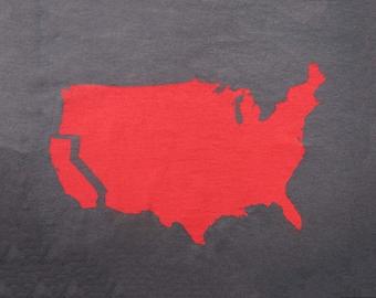 Men's California t shirt- American Apparel -asphalt gray- available in S, M, L, XL, XXL- Worldwide Shipping
